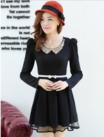 5 autumn sweet doll slim big skirt one-piece dress