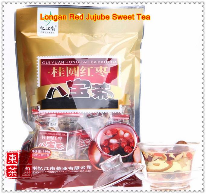 Гаджет  180g=12 Small Bags;Longan Red Jujube  Assorted Chinese Herbal Tea Eight Treasure Tea Flower Tea For Health Product Free Shipping None Еда