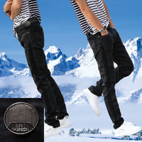 Autumn and winter elastic patchwork skinny jeans slim jeans men's the trend