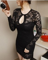 8 2013 autumn lace sexy slim hip lace one-piece dress
