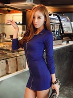 91 women's 2013 autumn sexy slim all-match one-piece dress