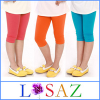 Summer Candy Color Girl Legging Elastic Modal Children Pants Sport Neon Leggings for Girls Children Outerwear Baby Clothing
