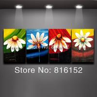 4 Season Wall Art  Multi Color Flower Wall Decorations Living Room Art Painting 2014 New