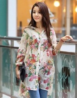 B5 flowers rayon shirt body skirt