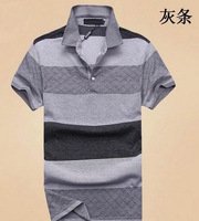 NEW Men's Stripe Shirt Brand Casual Spring 2014 Shirt Free Shipping Drop Shipping