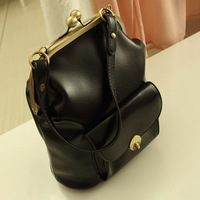 Fashion 2014 Hot  new arrive  Classic clip portable shoulder messenger bag retro pouch women handbag