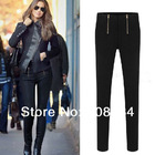 1pcs Free Shipping Frontal Zipper Stretch Skinny casual Pencil Pants Small Feet new fashion Women Pants TP3008 Pants & Capris(China (Mainland))
