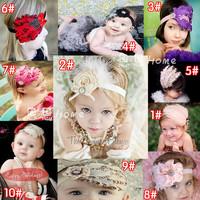 Fashion luxury handmade feather hair accessory hair accessory hair bands child headband accessories