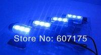 4 LED/sets Car Auto Interior Dash Floor Foot Decoration Light Lamp Cigarette Lighter atmosphere light Free shipping