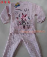 Set small ant child underwear set winter female child sleepwear 100% cotton thermal underwear set