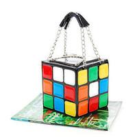 Personalized magic cube bag portable women's style handbag bag day clutch handbag