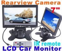 "7""TFT LCD Car Rearview Mirror Monitor 7 inch 16:9 For Car Camera DVR DVD"