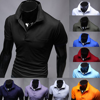 Free shipping men's short sleeve T-shirt pure color high quality leisure t-shirts. 10 color. Size M - XXL