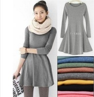 women's ladies' long sleeve Grinding wool comfortable dress, Joker maxi casual dresses Free Shipping F3211