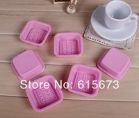 lot Pink handmade silicone soap mold DIY tool soap molds Mould 70mmx 25mm