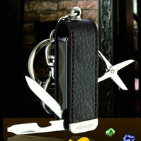 Hot-selling palcent multifunctional lighter keychain combination tools scissors nail clipper bottle opener