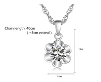 Girl's Fashion Jewelry Unique lovely silver Color Chain flower Necklace For Women