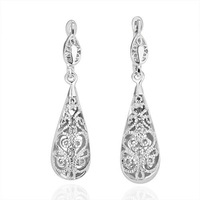 free shipping 18 K gold plated earrings Genuine Austrian crystals earrings,Nickle free antiallergic factory price E112