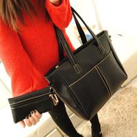 Freeshipping Hot Sales Lady Bags 2015 women's winter handbag big bag fashion black fashion vintage women's handbag shoulder bag