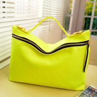 Freeshipping Hot sales Fashion vintage messenger bag female bags 2014 neon color messenger bag candy bag women's handbag