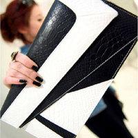 2014 fashion vintage serpentine pattern bag color block bag 1h day clutch bag messenger bag envelope bag female bags