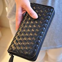 Isn't 2013 plaid women's long design single zipper wallet