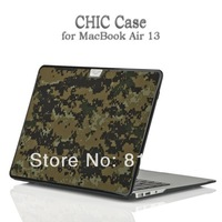 "For Macbook Air 13"" Case,High Quality Army Green Camouflage Protective Case Camo Cover backpack for laptop, freeshipping"