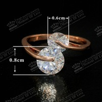 18K Rose gold Plating FREE SHIPPING GR.NERH TOP quality Zirconia with micro CZ Setting Engagement Rings for woman