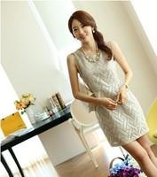 2013 spring and summer one-piece dress summer elegant OL outfit slim hip slim one-piece dress