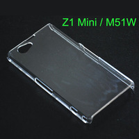 M51w Case Transparent Case for Sony Xperia Z1 Mini Z1 Compact Cover DIY Bling Diamond D5503 Case