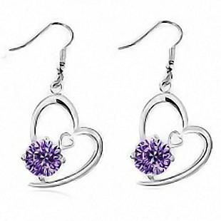Crystal accessories zircon hearts and arrows dcrv drop earring earrings cupid g009
