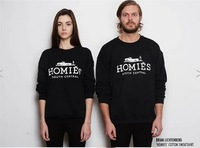 [H023] 2013 Brand Women's Clothing Homies Hoodie Long Sleeve Fleece Lined Couple Hoodies Sweatshirts Fashion Pullovers