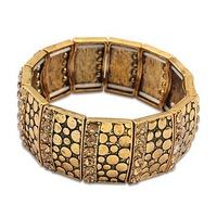 2014 New Arrival Fashion Bangle Women Bangle,Bohemian Alloy Gold Crystal Vintage Wide Stretch Bracelet Bangle Free Ship#104523