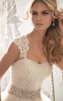 Fashion lace short trailing wedding dress shoulder strap  dress customize