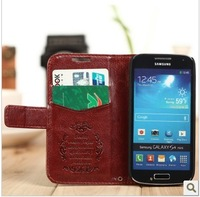 Luxury busniess leather flip cover case leather case for Samsung Galaxy S4 Mini I9190 , fashion wallet & cards leather cases .