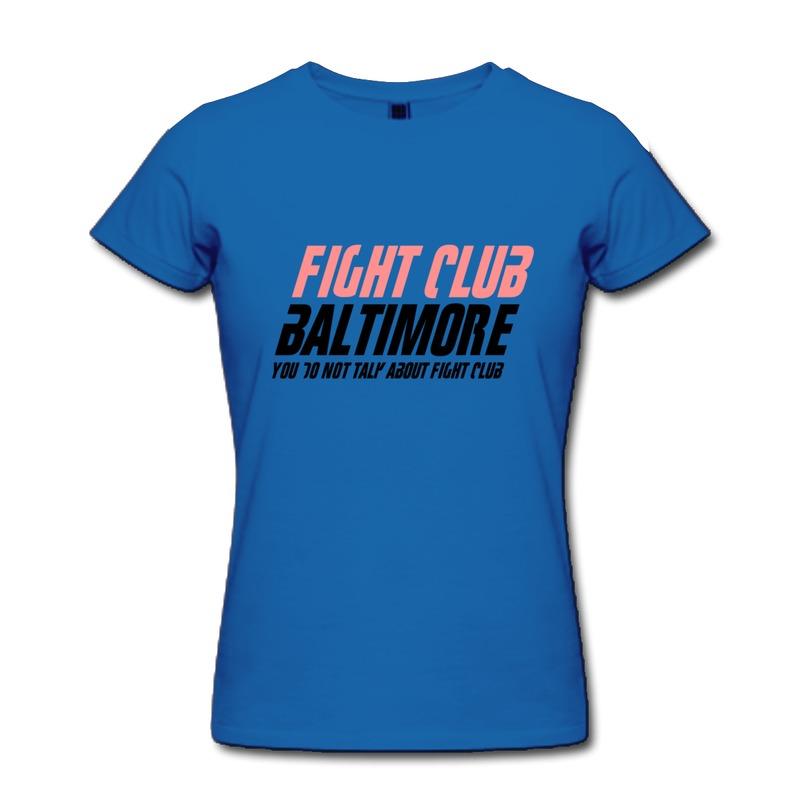 Women Solid T Shirt Fight Club Baltimore funny Camp logo Tee Shirt Pre-Cotton Tee Dropshipping(China (Mainland))