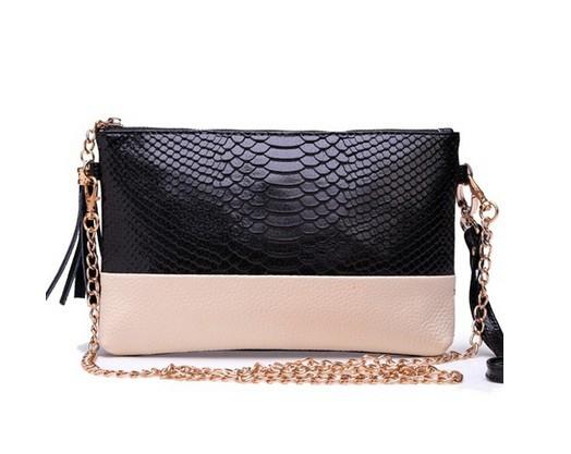 2014 Genuine leather Tassel handbags shoulder bags messenger bag Day clutch Chain bag small bag women's clutches BK80766(China (Mainland))