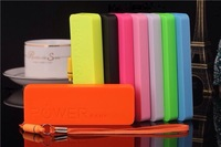 Ultra-thin Perfume 5600mAh USB External Backup Battery Power Bank  Micro usb cable 100pcs/lot