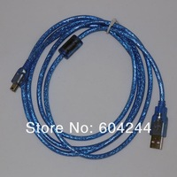 250 pcs Blue USB 2.0 6FT 5PIN Mini B TO A USB 2.0 Cable MP3 MP4 Camera 1.8M 6FT