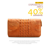 Male long design wallet genuine leather zipper style crocodile skin day clutch big capacity limited