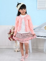 Wholesale - Newest Baby Girl 3 Piece Suits T-shirt+Coat+Skirt Kids Princess Tutu Dress Children Lapel Sets 5s/l
