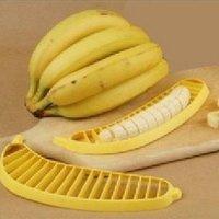 50pcs/lot banana slicer banana cutter fruit slicer best tool for salad yellow