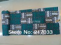 Ghana cotton veritable real wax print fabric  wax batik fabric made in china 6 yards Item No.H336