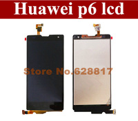 Discount!!LCD Display with Touch Screen Digitizer for Huawei Ascend P6-U06 Black Color HK post free shipping+tracking