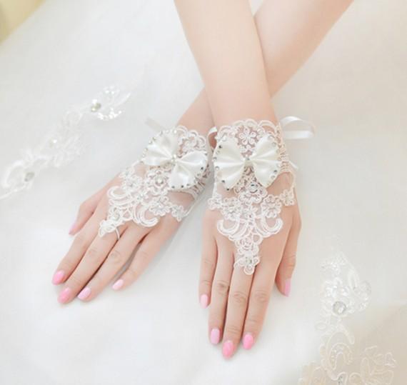 قفازات للعروس gloves The-new-Korean-fashi