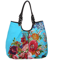 5 colors Double faced print national women's trend handbag one shoulder flower chinese style cloth fresh small handbag