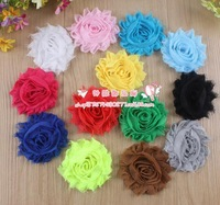 Hot Sale Free shipping!100pcs/lot 65cm 13colors multi layers handmade chiffon flower for baby headband DIY hair accessory