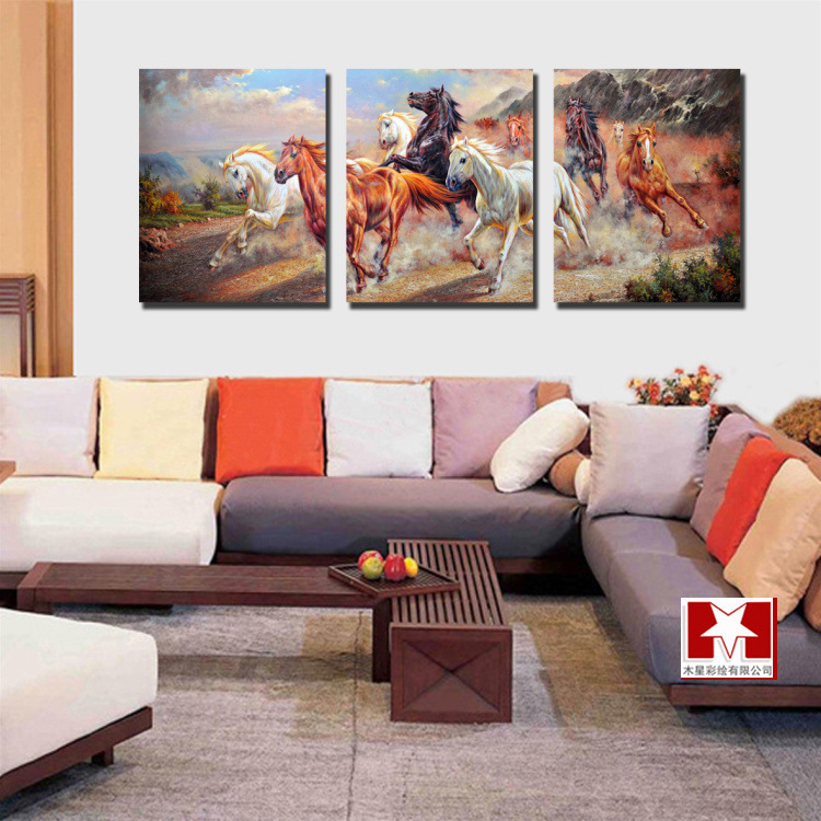 canvas horse painting large wall hunging art pictures living room