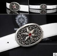Fashion men's belts vintage plate buckle cowhide designer strap men casual genuine leather belt