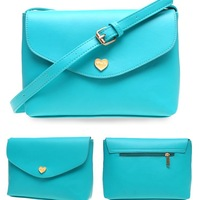 2014 New arrival fashion peach heart envelope handbag hot-selling PU leather one shoulder bags women's messenger bag day clutch